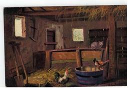 Gerstenhauer Boerderij Stal Binnenzicht 1912  W. DE HAAN, Utrecht - Serie 106 - Künstlerkarten