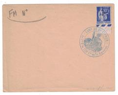 """CACHET """" CAMP DE ST SAINT CYPRIEN / 225e COMPAGNIE DE TRAVAILLEURS ESPAGNOLS """" LETTRE TIMBRE PAIX FM FRANCHISE MILITAIRE - Poststempel (Briefe)"""