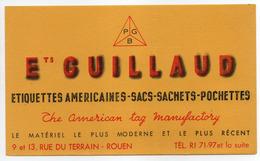 - BUVARD ETS GUILLAUD - ETIQUETTES AMERICAINES - SACHETS - POCHETTES - 9 Et 13, Rue Du Terrain - ROUEN - - Papeterie