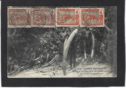 CPA Ivoire éléphant Chasse Congo Français Circulé - Jacht
