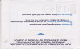 Lettre 1999 Flamme SECAP FD Fausse Direction CHEQUES POSTAUX PARIS FAVORITES Luquet Jumelet 93 Bondy Ppal - Postmark Collection (Covers)