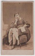 CDV Photo Originale XIXème Femme Genou Courtisane Maison Close Prostitution ? Cdv2808 - Ancianas (antes De 1900)