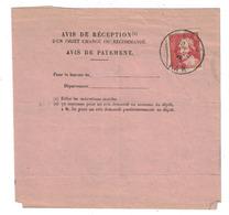 1936 - TIMBRE JACQUES CALLOT N° 306 SEUL SUR AVIS DE RECEPTION D'UN OBJET CHARGE RECOMMANDÉ PAYEMENT HYERES VAR - Marcophilie (Lettres)