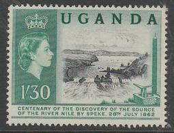 Uganda 1962 The 100th Anniversary Of Speke's Discovery Of Source Of Nile 1/30 Sh Dark Bluish Green/black SW 78 O Used - Uganda (1962-...)