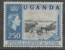 Uganda 1962 The 100th Anniversary Of Speke's Discovery Of Source Of Nile 2/50 Sh Blue/black SW 79 O Used - Uganda (1962-...)