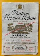 11606 - Château Prieuré-Lichine 1976 Margaux - Bordeaux
