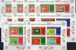 2x5 Blocks 50 Years CEPT 2005 Türkei Block 58+59 ** 125€ Bloque Hojita Ss Blocs M/s History Stamps Sheets Bf EUROPA - 1921-... República