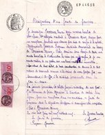 Designation D'un Fondé De Pouvoir Pour Remplaçant De Caisse à Plouneour Men (29), Timbre Fiscal Vieux Rose De 90 Et 10 C - Documentos Antiguos