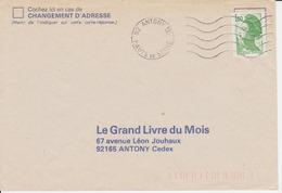 Lettre Vers 1983 1984 Annulation à L'arrivée Machine SECAP 92 ANTONY PAL HAUTS DE SEINE Sur Liberté 1,80 PNU - Marcofilia (sobres)
