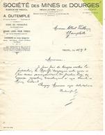 Facture 1931 / 62 HENIN-LIETARD / Mine De DOURGES, Coke, Charbons / A. DUTEMPLE / Agence Vesoul 70 - 1900 – 1949