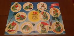 ADESIVI TARTARUGHE TARTALLEGRE Rara Brochure Ovetto Kinder Con 10 Stickers Adesivi Tartarughe Italy Popeye - Kinder & Diddl