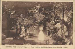 CARTE POSTALE ORIGINALE ANCIENNE MESNIL VAL LES JARDINS DE L'HOSTELLERIE DE LA VIEILLE FERME ANIMEE SEINE MARITIME (76) - Mesnil-Val
