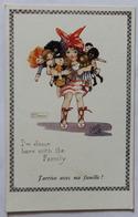 CPA Illustrateur Signé Agnès Richardson I'm Down With The Family  Raphael Tuck & Sons Oilette - Illustrateurs & Photographes