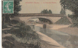 SILLERY. - Le Pont De Pierre. Carte Toilée RARE - Sillery