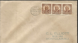 J) 1930 UNITED STATES, HARDING, STRIP OF 3, FDC - Etats-Unis