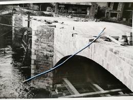 Photo Original 1951, La Roche Reconstruction Pont Du Gravier - La-Roche-en-Ardenne