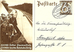 Bahnpost Offenbach-Reinheim 1937 Sur Entier Postal Illustre, Ambulant. - Poststempel - Freistempel
