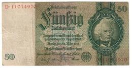 Germany 50 Reichsmark 30/03/1933 *V* - [ 4] 1933-1945 : Terzo  Reich