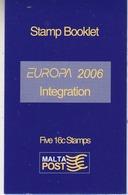 Europa Cept 2006 Malta Booklet ** Mnh (44540B) - 2006