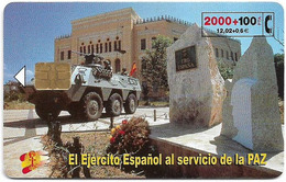 Spain - Telefónica - El Ejercito Espanol En Bosnia - CP-204 - 01.2001, 2.100ex, Used - Spanje