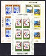 Gibraltar 1977 Europa / Amphilex 3v 3 Sheetlets ** Mnh (44543) - Europese Gedachte