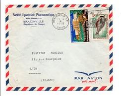 CONGO AFFRANCHISSEMENT COMPOSE SUR LETTRE POUR LA FRANCE 1966 - Congo - Brazzaville