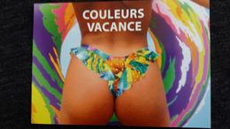 CPM PIN UP FEMME FESSES A MOITIES NUES COULEUR DE VACANCES   SUN SUNNEWS 02 MILABERTO SUNSET - Pin-Ups