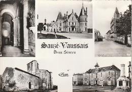 SAUZE-VAUSSAIS. - Multivues. CPM Dentelée - Sauze Vaussais