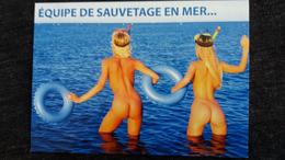 CPM PIN UP JEUNE FEMME FESSES NUES NU NUE NUS EQUIPE DE SAUVETAGE EN MER BOUEES SUNNEWS 05 ED MILABERTO - Pin-Ups