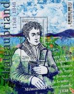 St. Pierre & Miquelon - 2019 - François René De Chateaubriand, French Author - Mint Souvenir Sheet - St.Pierre & Miquelon