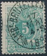 [59325]TB//O/Used-N° 45, TB Obl 'N° Ambt-Brux.-Arlon 1', Nipa +9? - 1869-1888 Lion Couché