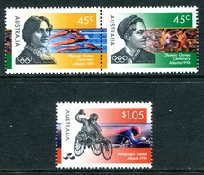 Australia 1996 Centennial Olympic Games & Tenth Paralympic Games Set MNH (SG 1627-1629) - Ungebraucht