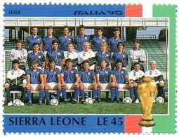 SIERRA LEONE 1v MNH - Italy Team World Cup Football Championship Italia 1990 Futbol Futebol Fußball  футбол Soccer - 1990 – Italië