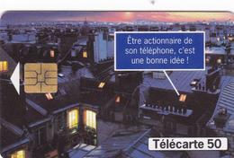 TÉLÉCARTE 50 - FRANCE TELECOM OUVRE SON CAPITAL - DEVENIR ACTIONNAIRE - Telecom Operators