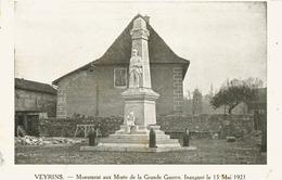 14202 - Isére - VEYRINS : Monument Aux Morts De La Grande Guerre Inauguré Le 15 Mai 1921 - Avec Les Noms Au Dos - Frankrijk