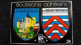 CPM ECUSSON ADHESIF CHARENTE LA ROCHEFOUCAULD BLASON CHATEAU   ARMORIES ED J P - Francia