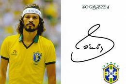 Autographe - Hand Signed - Autogramm - Socratès - Brésil - Brazil - Autografi