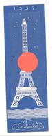 """Marque-pages  - PARIS, Exposition Universelle 1937 - Restaurant Et Brasserie """" LUCE"""" Sur La Tour Eifel - Signet  (b260) - Marque-Pages"""
