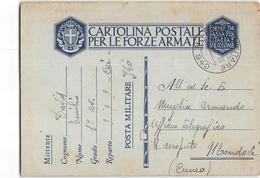 AG1673 01 POSTA MILITARE 940 C.A.I. CORPO AEREO ITALIANO -  FRONTE DELLA MANICA X MONDOVI' - 1900-44 Vittorio Emanuele III