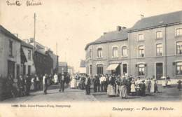 Dampremy - 1904 - Animée, Place Du Phénix - Ed. Jules Plumet-Facq - Charleroi