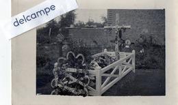 Carte Photo - Tombe Provisoire Du Lt Hilaire REMY, Tué à L'ennemi Le 3/01/1915 à Aix Noulette (62) Corps Inhumé à Paris - Guerre 1914-18
