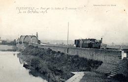 Fleurville Tramway Sur Le Pont De La Saone - France