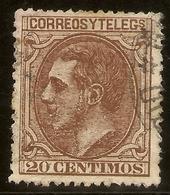 España Edifil 203 (º)  20 Céntimos Castaño  Alfonso XII  1879  NL1463 - Usados