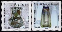 France - 2019 - Art - Vases - Joint Issue With Croatia - Mint Stamp Set - Nuevos