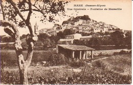 04.MAN2- MANE , Vue Générale, Fontaine De Marseille - France