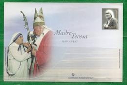 54 ARGENTINA 1997 Postal Del Correo. Fallecimiento De La Madre Teresa De Calcuta - Nuevos