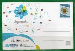 55 ARGENTINA 2013 Postal Del Correo.Bs.As. Juegos Juveniles Parapanamericanos - Nuevos