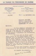 1942 SECOURS NATIONAL - Lettre De Remerciement - Famille Du Prisonnier De Guerre - COURBEZON LOIR ET CHER - Documents Historiques
