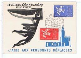 TIMBRE-1961-CARTE POSTALE SOCIETE PHILATELIQUE UNION-CONSEIL DE L'EUROPEV - Timbres (représentations)