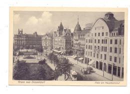 4000 DÜSSELDORF, Platz Am Hauptbahnhof, Tram, Belebte Szene - Duesseldorf